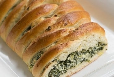 Spinach and Onion Braid | A marvelous braided yeast bread filled with spinach and onions