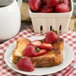 Strawberry Mascarpone Stuffed French Toast #BrunchWeek #Giveaway