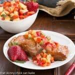 Strawberry Salsa Topped Salmon #SkinnyTip
