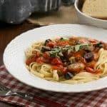 Summer Pasta Puttanesca #SundaySupper