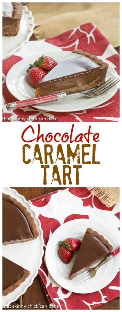 Chocolate Caramel Tart | A sublime pairing of chocolate and caramel!