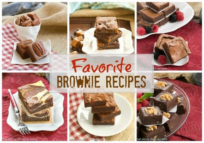Favorite Brownie Recipes - Roundup of the best recipes from That Skinny Chick Can Bake