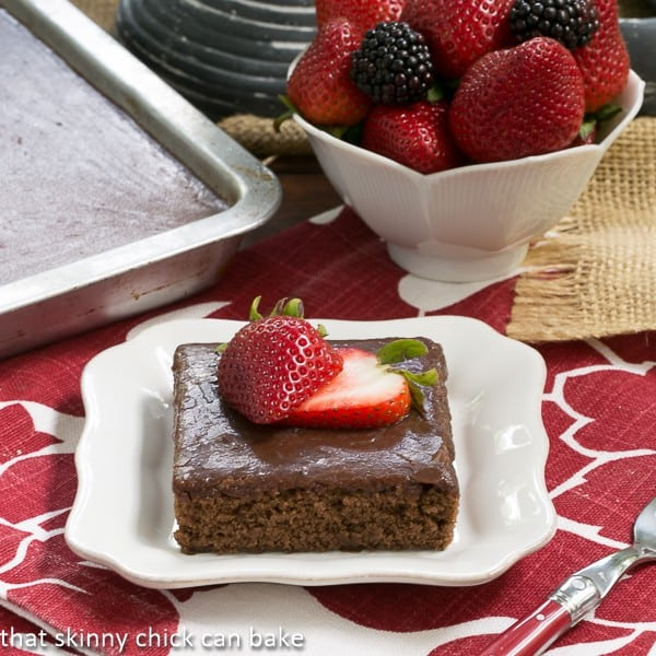 Chocolate Syrup Brownies - made with a can of Hershey's syrup, these moist tender brownies are a family favorite