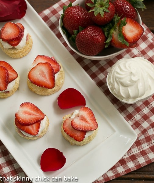 Double Strawberry Rose Shortcakes | #Driscolls #DorieGreenspan