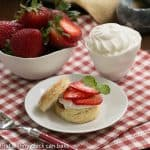 Double Strawberry and Rose Shortcakes #Driscoll's #StrawShort