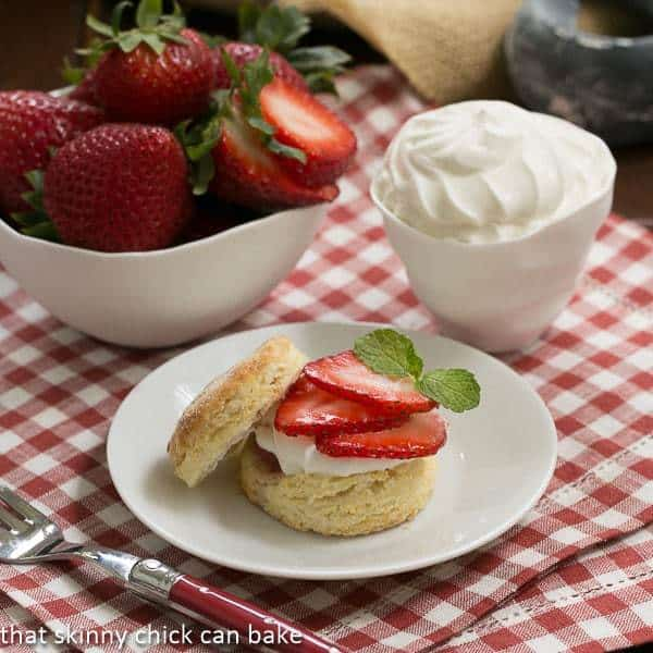 Double Strawberry Rose Shortcakes  #Driscolls #DorieGreenspan