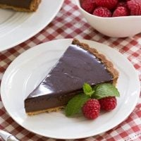 Ganache Topped Chocolate Tart - a buttery crust with an exquisite chocolate filling topped with ganache