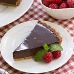 Ganache Topped Chocolate Tart #SkinnyTip