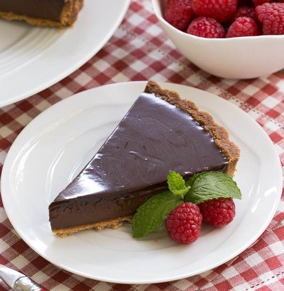 Ganache Topped Chocolate Tart | The silkiest chocolate filling I've ...