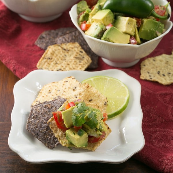 Guacamole with Tomatoes and Bell Peppers - Dorie Greenspan's recipe