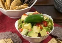 Guacamole with Tomatoes and Bell Peppers #FrenchFridayswithDorie #SkinnyTip