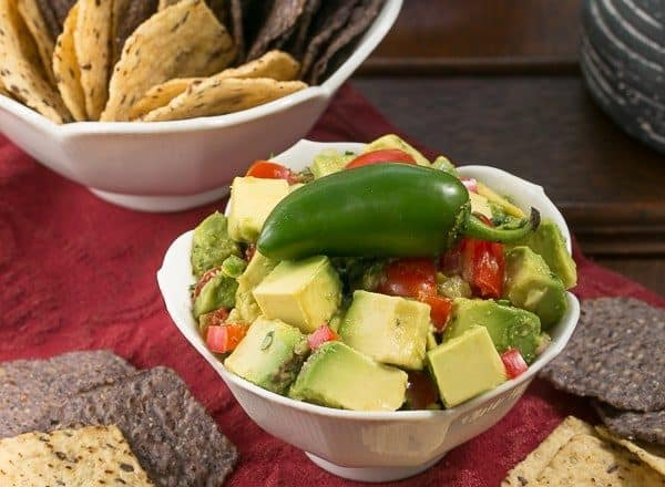 Guacamole with Tomatoes and Bell Peppers   Dorie Greenspan's recipe