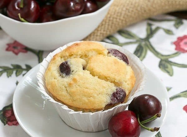Double Cherry Muffins | Scrumptious, tender muffins with two kinds of cherries!