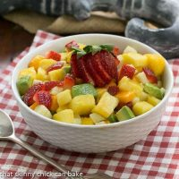 Mango Strawberry Avocado Salad