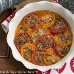 Tomato Provençal Tian #FrenchFridayswithDorie #SkinnyTip