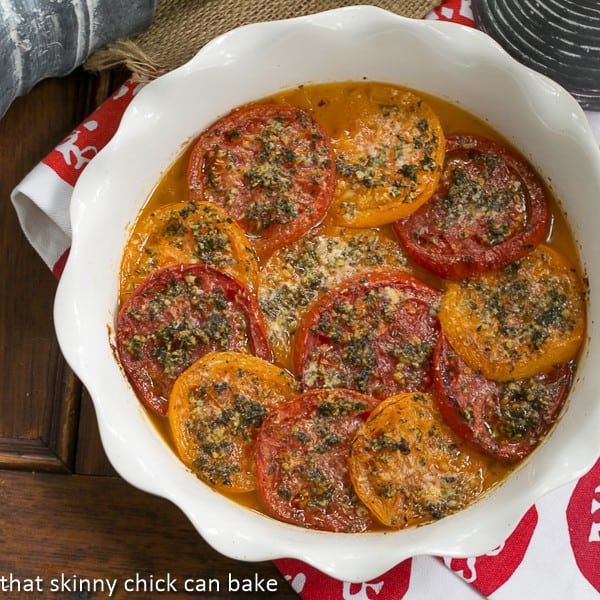 Tomato Provençal Tian - a simple, elegant French side dish