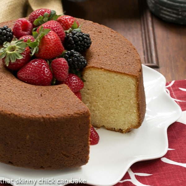 Vanilla Pound Cake | Perfect topped with summer berries