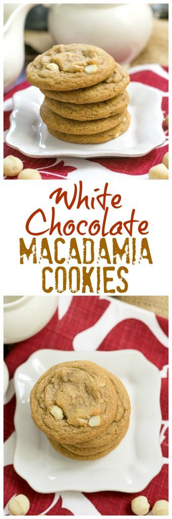 White Chocolate Macadamia Nut Cookies collage image