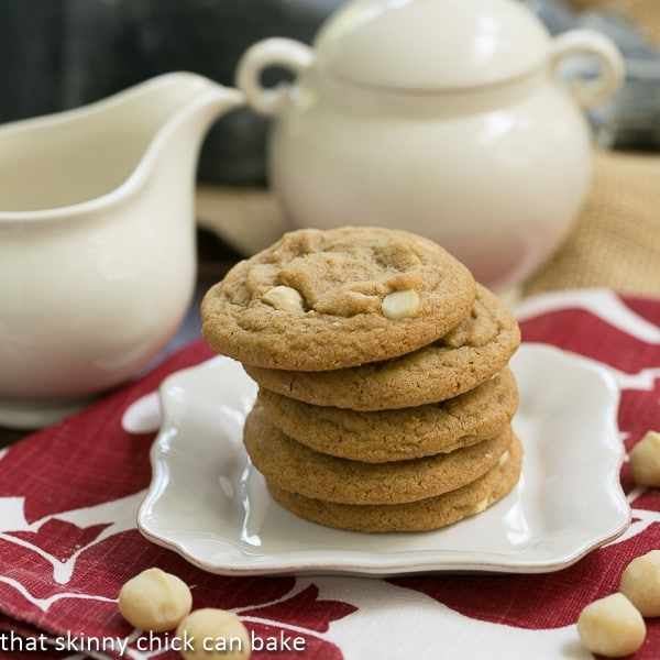 White Chocolate Macadamia Nut Cookies | That Skinny Chick Can Bake