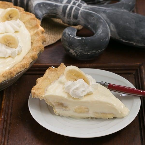Banana Cream Cheesecake Pie
