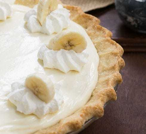 Banana Cream Cheesecake Pie