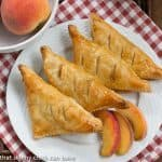 Chaussons aux Pêches or Peach Turnovers #HolidayFoodBlogParty