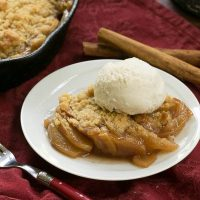 Grilled Apple Crisp #SundaySupper