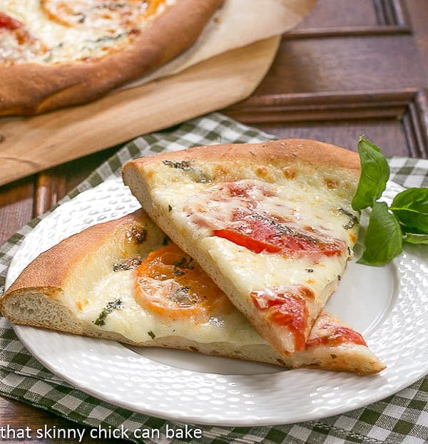 Homemade Pizza Margherita - Simple ingredients create an outstanding pizza!