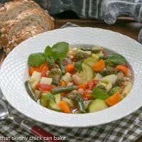 Provençal Vegetable Soup | A delightful summer soup featuring beans and vegetables