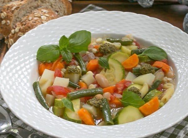 Provençal Vegetable Soup | A delightful summer soup featuring beans and vegetables