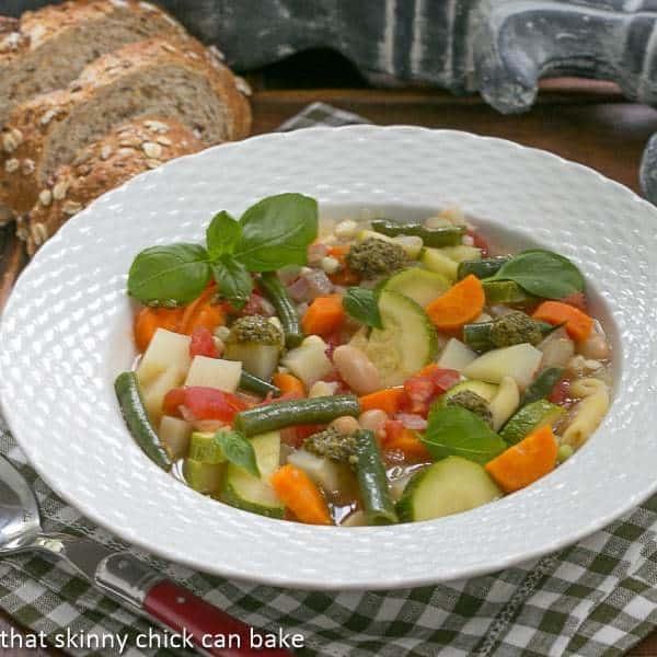 Provençal Vegetable Soup - A delightful summer soup featuring beans and vegetables