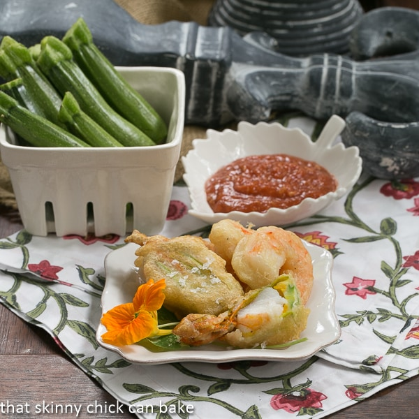 Shrimp-Filled Zucchini Blossoms