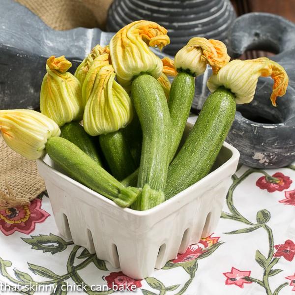 Shrimp-Filled Zucchini Blossoms