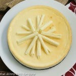 White Chocolate Frangelico Cheesecake #CheesecakeDay