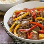 Asian Beef with Peppers #WeekdaySupper