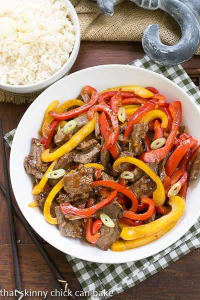 Asian Beef with Peppers - a quick, tasty stir fry that's perfect for a busy weeknight