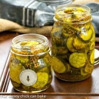 Easy Bread and Butter Pickles - Easy refrigerator pickles just like my mom used to make!