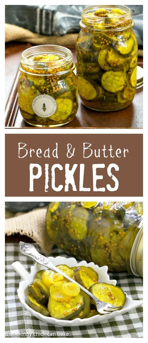 Easy Bread and Butter Pickles - Easy refrigerator pickles just like my mom used to make! #homemadepickles #breadandbutterpickles #condiments #pickles #canning