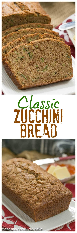 Classic Zucchini Bread - Tender, delicious Cinnamon Spiced Zucchini Bread Recipe #bread #quickbread #zucchini #zucchinibread