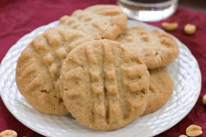 Classic Peanut Butter Cookies | An exquisite cookie with the perfect snap and a bit of texture from extra chunky peanut butter!