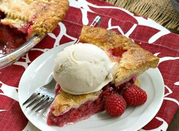 Lattice Topped Raspberry Pie | Both beautiful and utterly delicious!
