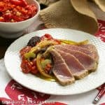 Tuna Confit with Black Olive Tapenade and Tomato Salsa #FrenchFridayswithDorie #SkinnyTip
