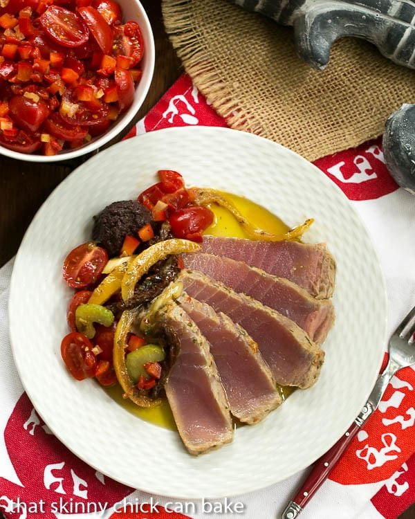 Tuna Confit with Black Olive Tapenade