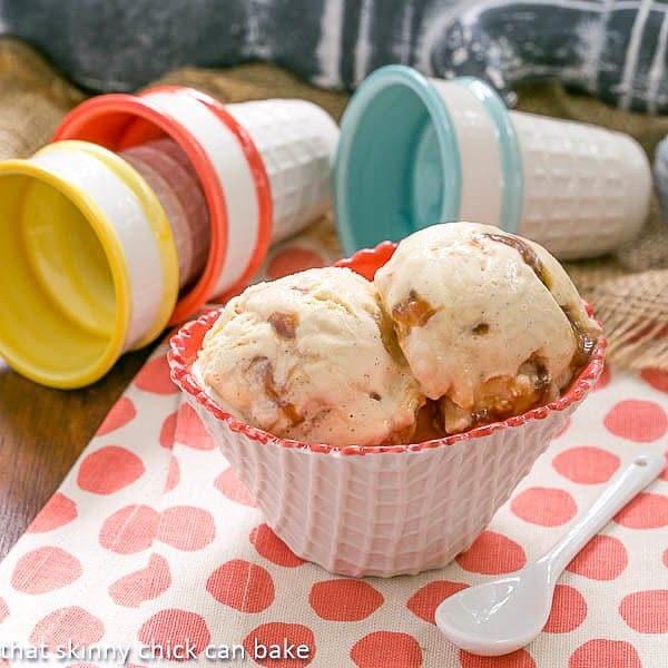 Vanilla Caramel Swirl Ice Cream For Icecreamweek