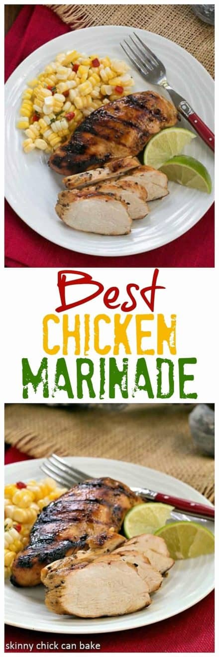Mustard, Garlic, Lime Marinated Chicken Breasts collage