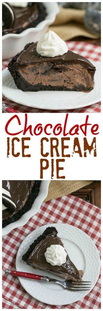 Fudge Topped Chocolate Ice Cream Pie