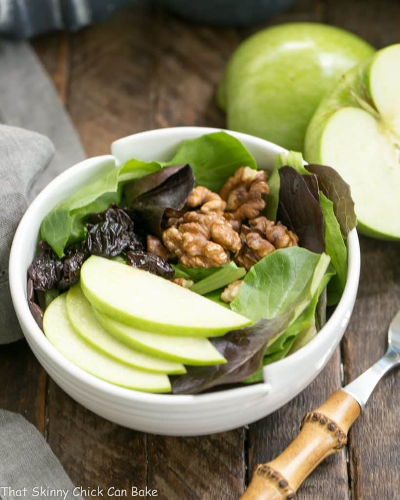 Apple, Cherry, Walnut Salad with Maple Dressing #Giveaway
