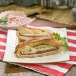 Braided Stromboli |Perfect tailgate dish|#SundaySupper