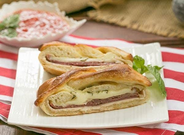 Braided Stromboli |Perfect tailgate dish|#SundaySupper