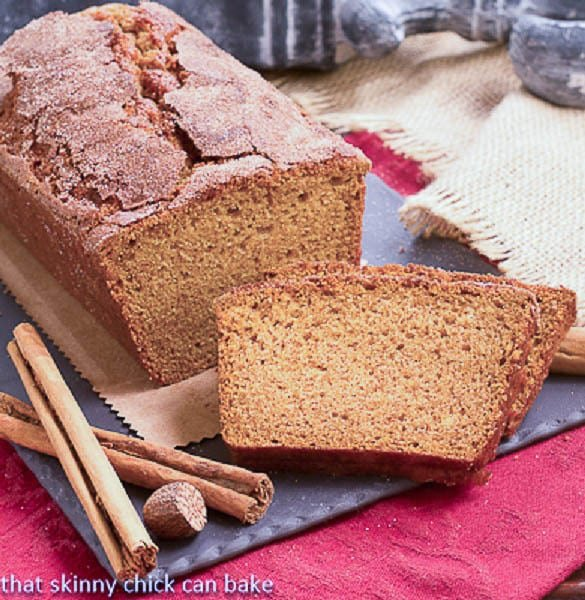 Cinnamon Crusted Pumpkin Bread